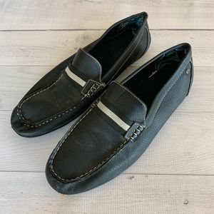 Stacy Adams Black Slip On Leather Upper Loafers